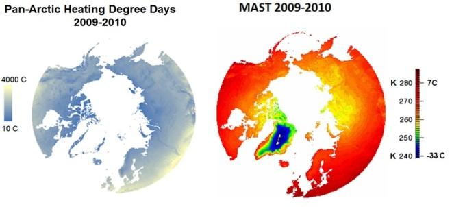 climate change; permafrost; pan-arctic; remote sensing; spaceborne; MODIS